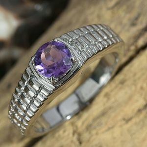 Other - Men's Amethyst Stainless steel Ring